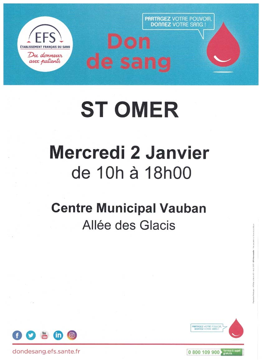 Don de sang saint omer