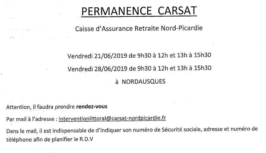 Permanences carsat