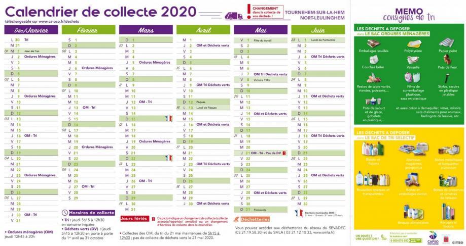 Tournehem calendrier collecte 1