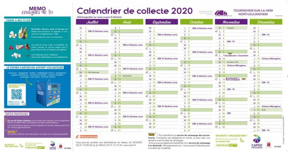 Tournehem calendrier collecte 2